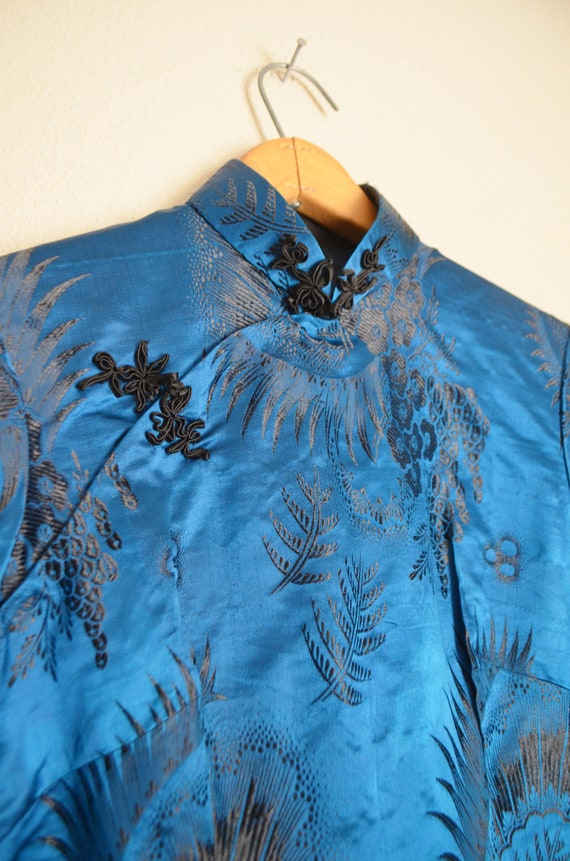 40s cheongsam qipao wiggle asian dress - small - image 6