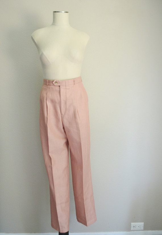rose linen trousers - 26x28 - image 3