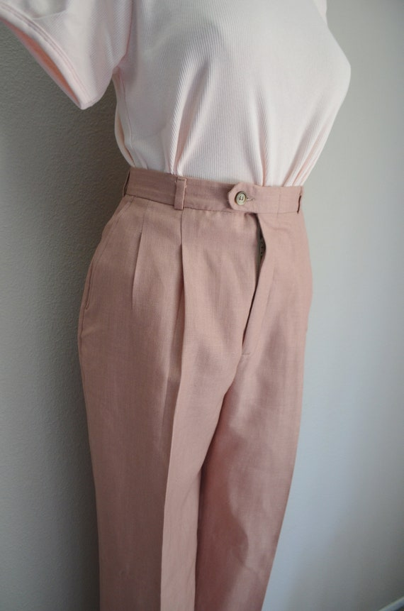rose linen trousers - 26x28 - image 6