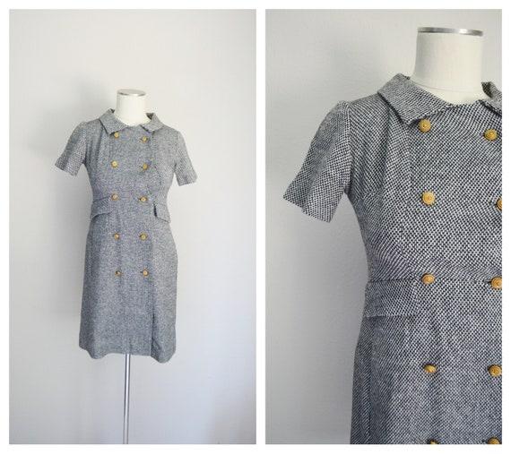 60s mod tweed dress - petite xsmall