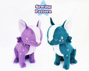 Sitting Cat Plushie Pattern   Cat Softie Digital Sewing Pattern