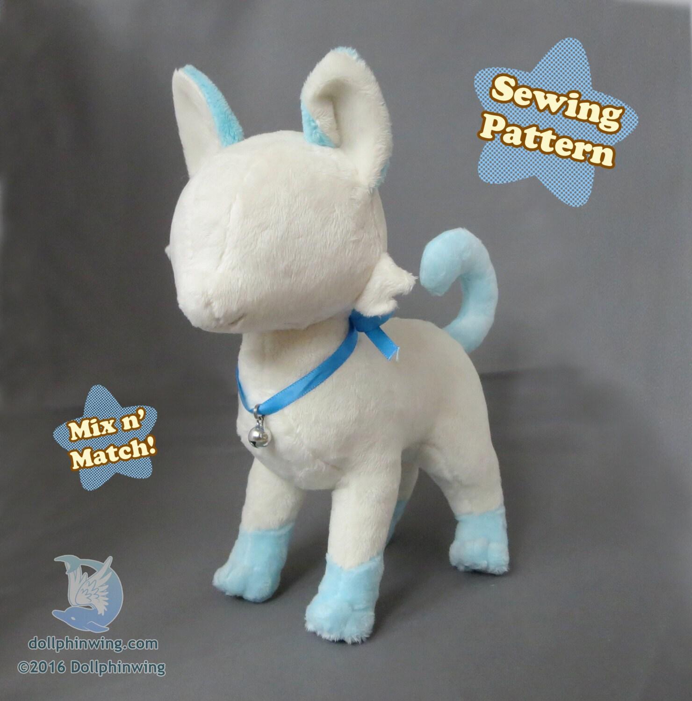 Cat Plush Sewing Pattern Feline Plushie Pattern PDF Download