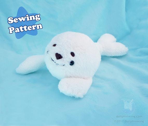 Arctic Seal Plushie Sewing Pattern Plush Pattern Pdf Pattern Etsy