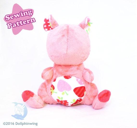 PDF Sewing Pattern Hamster Plush Kawaii DIY
