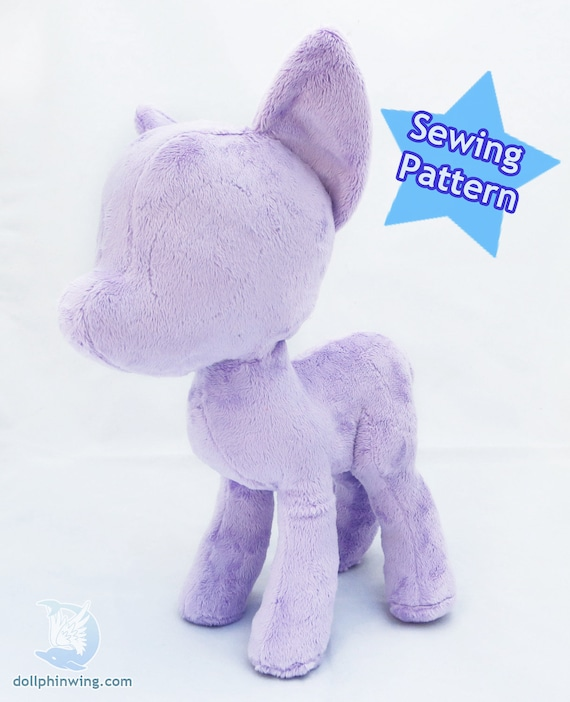 Pony Plush Sewing Pattern Mare Body Plushie Pdf Instant Etsy