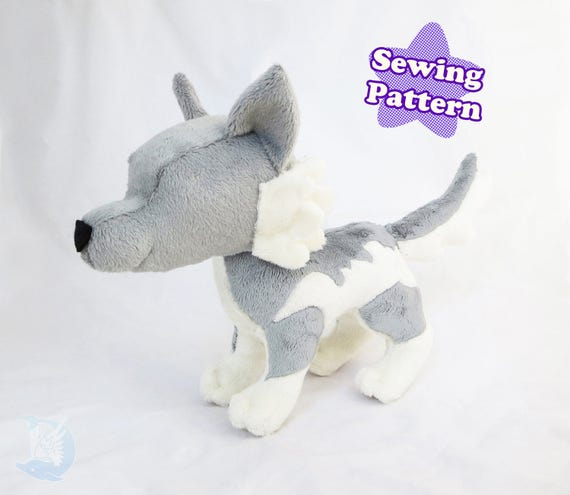 Wolf Plushie Sewing Pattern Instant Download PDF Pattern Wolf  250bb8b50