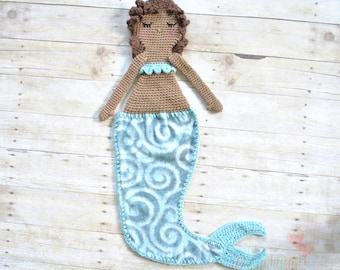 Lilith, Curly Haired Mermaid Lovey Doll