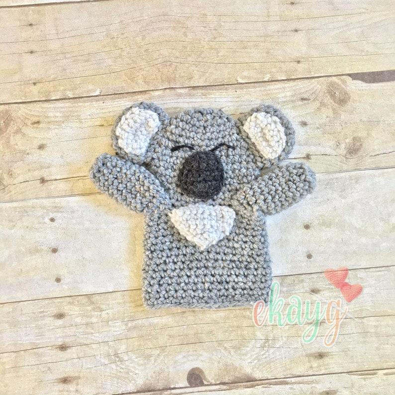 Koala Hand Puppet Crochet Pattern