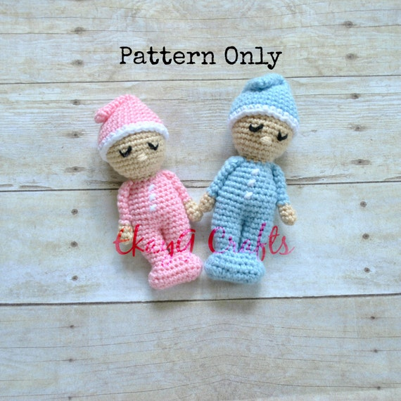 Crochet Pattern, Sleepy Baby Doll Rattle