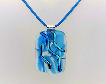 Fused Glass, Dichroic Glass Jewelry, Art Glass Necklace, Fused Glass Pendant, Handmade  Jewelry