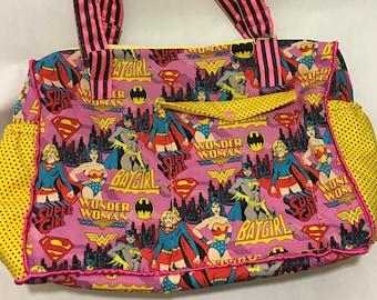 Wonder Woman Baby Diaper Bag Super Girl Bat Girl baby shower gift