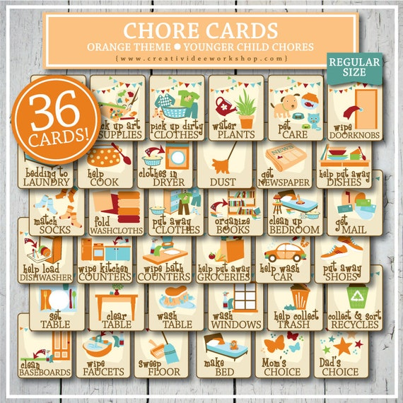 It's just a photo of Printable Picture Chore Cards regarding child's chore chart
