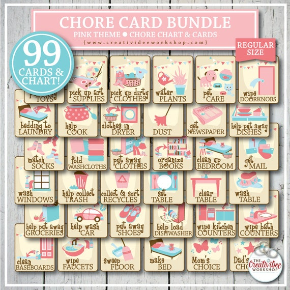 graphic relating to Printable Chore Cards referred to as Printable CHORE Playing cards and Chart for Little ones, 96 Amount, Crimson, Every month Dimensions