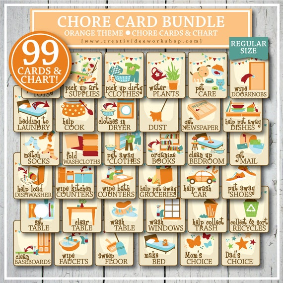 It is an image of Printable Chore Cards for monthly