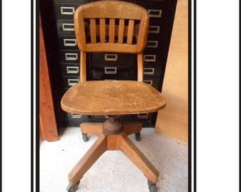 Antique Wooden Murphy Office Chair