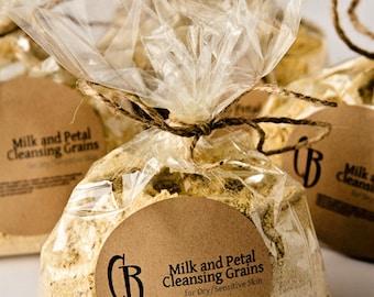 Cleansing Grains - Milk and Petal Facial Scrub - BULK 6 oz with RECIPE