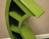 Free Shipping/Handmade 4ft Curved Bookshelf, choose color
