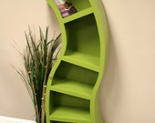 Handmade 6FT curved bookshelf,choose color below
