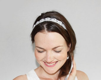 Silver Headband Adult Size, Shimmer and Shine Party Headband, Metallic Headband, Small Christmas Gift for Her, Stocking Stuffer, Wife Gift