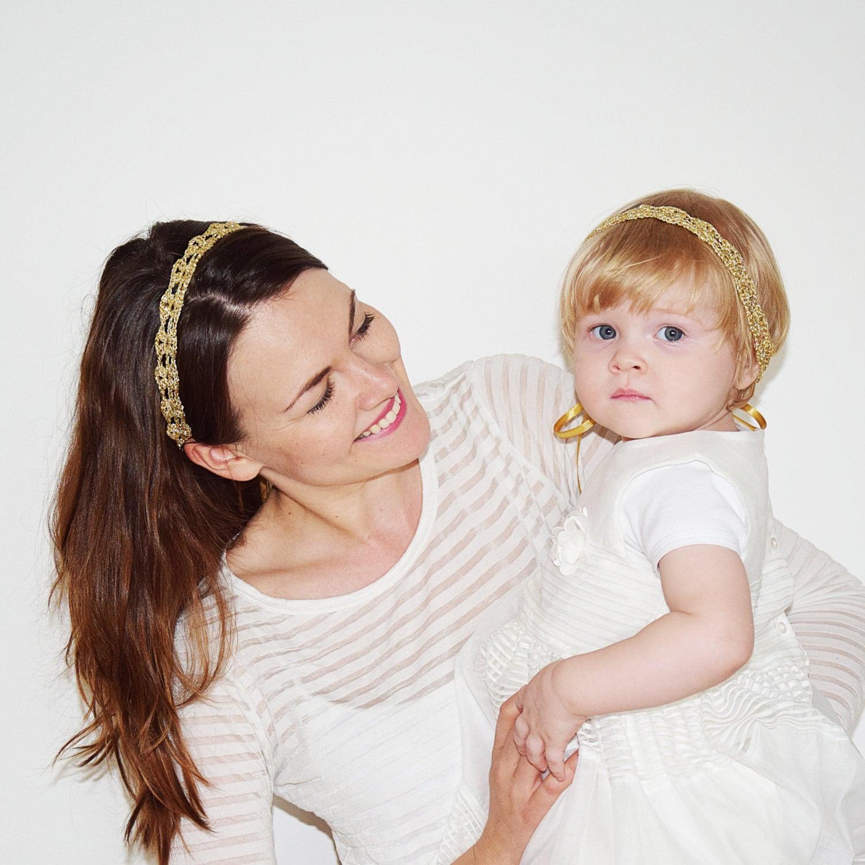 Gold Headbands Set Mother Daughter Matching Headbands Mommy  32f529e4304
