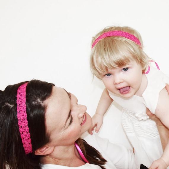 Pink Baby Headband Set Matching Mother Daughter Headbands  fe006d9d2a1