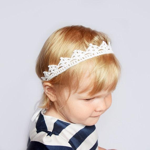 Baby Lace Krone Häkeln Babystirnband Neugeborene Geschenk Etsy