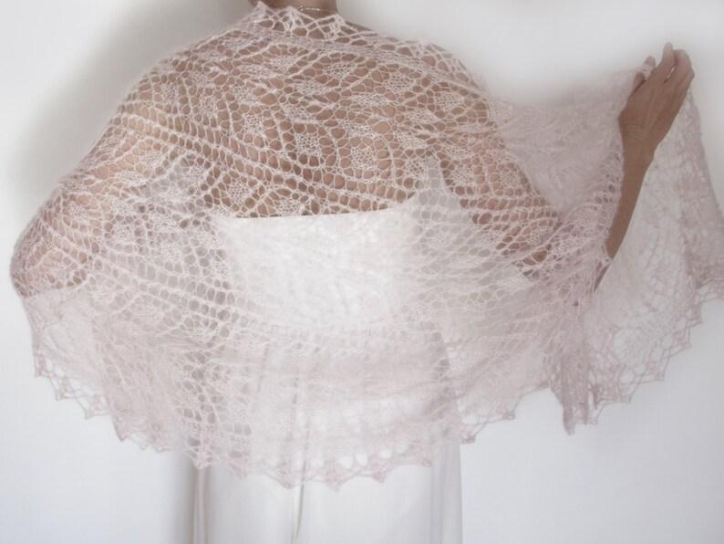 Blush pink Wedding Cover Up Rose Quartz Bridal Shawl Evening Shawls and Wraps Hand Knit Scarf Bridal Cover Up Knit Bridal Shawl