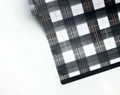"HOLIDAY buffalo plaid black or green 20"" x 29"" gift wrap sheets 2 pk"