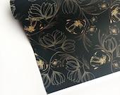 "ANSLEY PARK delicate faux gold florals 20"" x 29"" gift wrap sheets 2 pk"