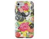 MICHELLA watercolor floral tech case iPhone X/Xs, iPhone Xs Max, iPhone XR, iPhone 7/8, iPhone 7/8 Plus, Galaxy S6 + more!