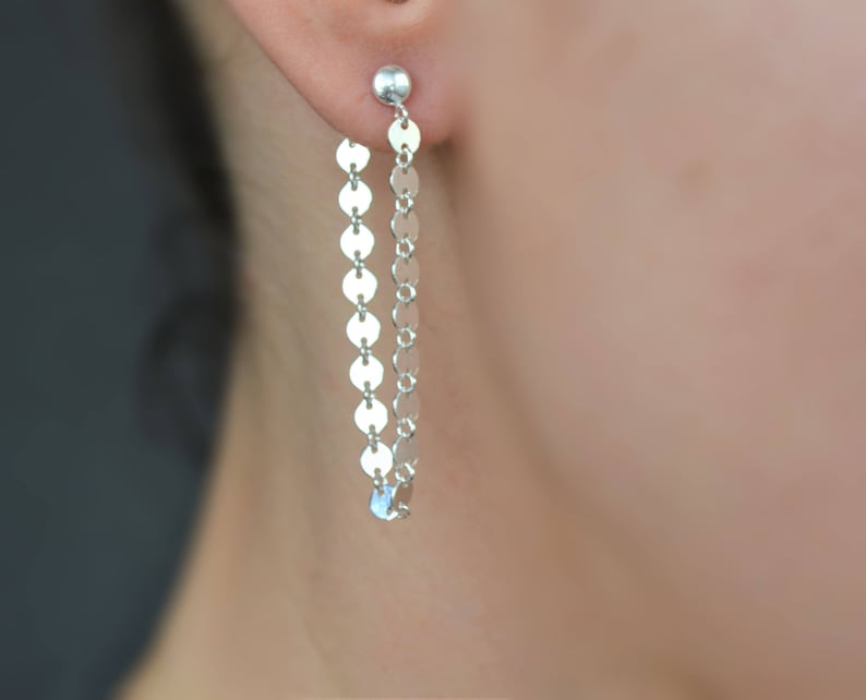 e483317c265a Dangle double sided earring sterling silver front back
