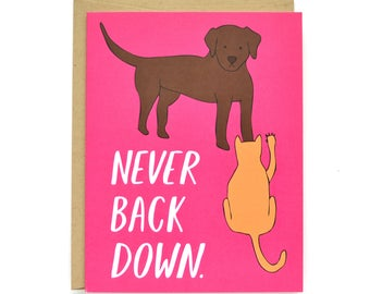 Encouragement Card - Never Back Down - Card for a Friend