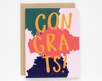 SALE - Congrats Card - Congratulations Card - Wedding Card