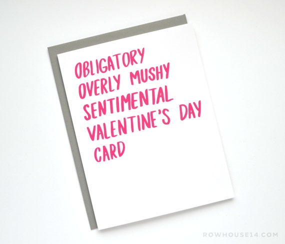 Valentine Card Funny Valentine S Day Card Obligatory Etsy
