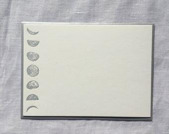 Lunar Phase Letterpress Notecards