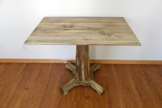 Pedestal Table in beetle kill pine / Kitchen table / eco item