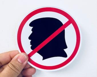 Anti Trump Silhouette Vinyl Sticker