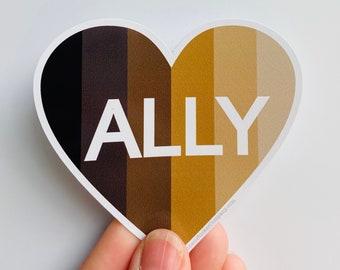 BLM ally heart vinyl sticker