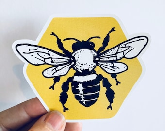 honeycomb bee bumper sticker or laptop decal | any smooth surface