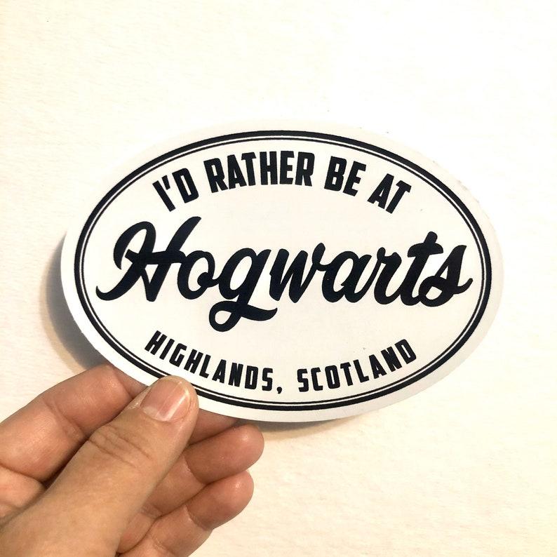 I'd rather be at Hogwarts vinyl sticker image 0