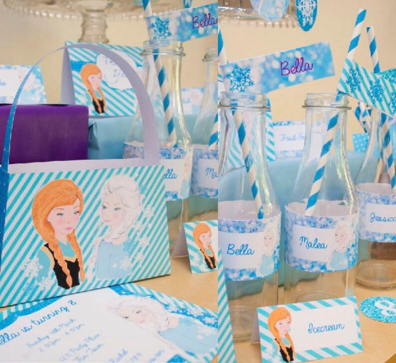 INSTANT DOWNLOAD Frozen Party DIY Printable Kit