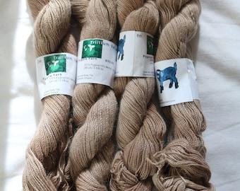 Hand dyed pygora yarn