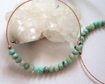 Raw Crystal Earrings, Chrysoprase Earrings, Raw Crystal Jewelry, Beaded Hoop Earrings, Healing Crystal Jewelry, Gift For Her