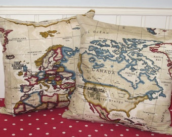 World map cushion covers world map pillow covers map cushion world map pillow covers world map cushion covers vintage map pillow cases uk gumiabroncs Images