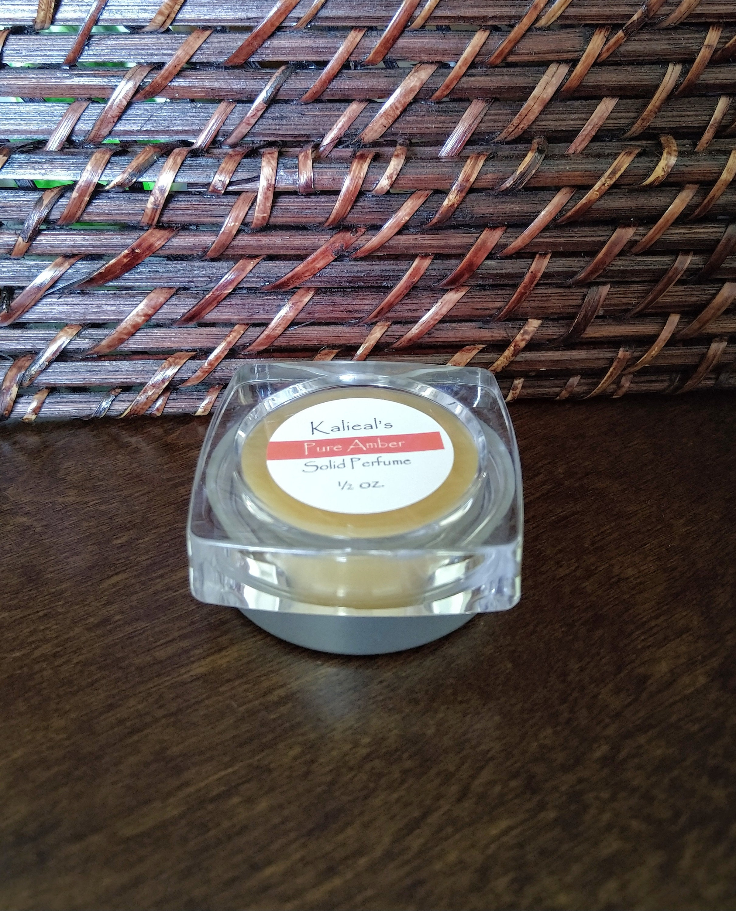 Amber Solid Oil Parfum Extra Large 1/2oz