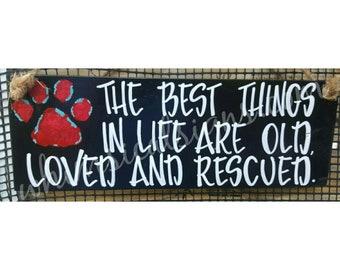 Dog sign, dog rescue