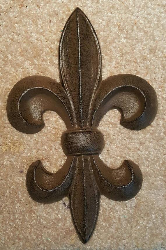 Fleur-de-lis wall decor cast iron | Etsy