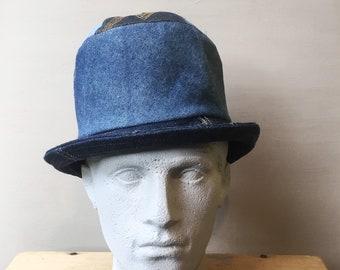 Recycled denim top hat c4b9f0f376d