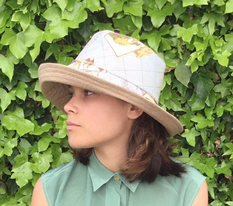 b2929c2d9 Linen sun hat reversible linen sunhatmap fabric hat summer | Etsy
