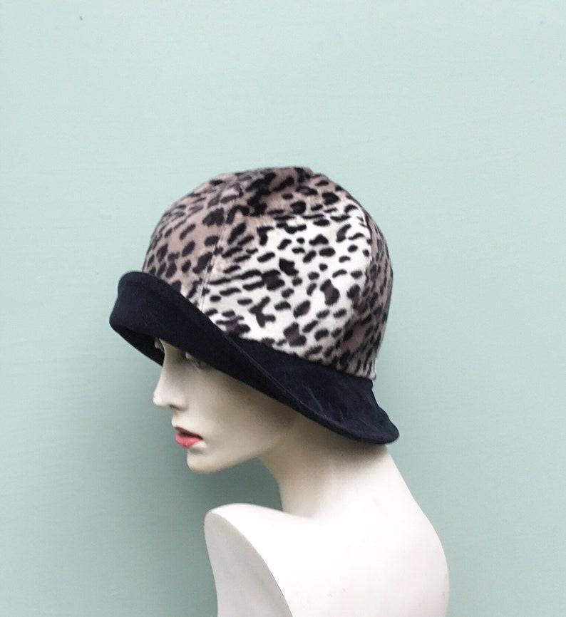 b41b39e2e195a7 Animal print hat lynx animal print faux fur hat classic | Etsy